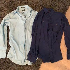 Men's Long Sleeve Collared Button Up Shirt